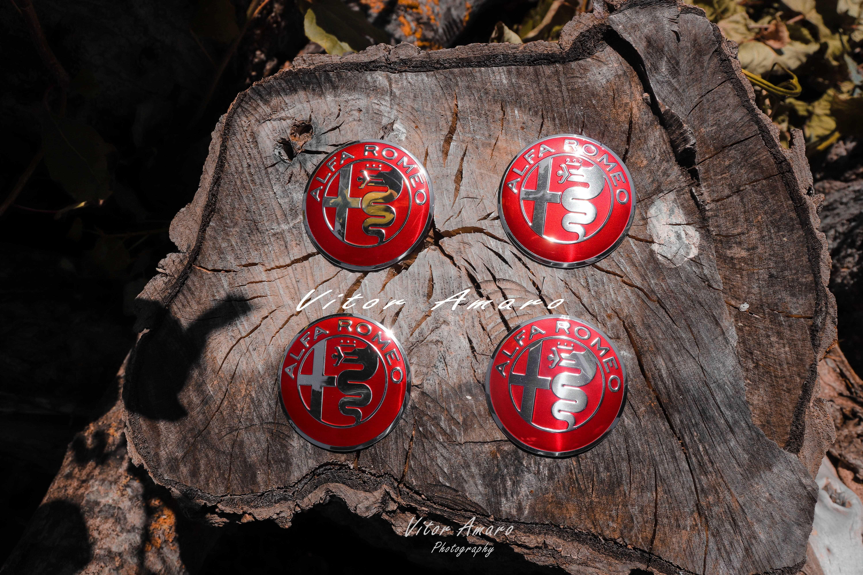 4 Símbolos/Logos para Jantes em Alumínio Alfa Romeo Nº4   NOVOS