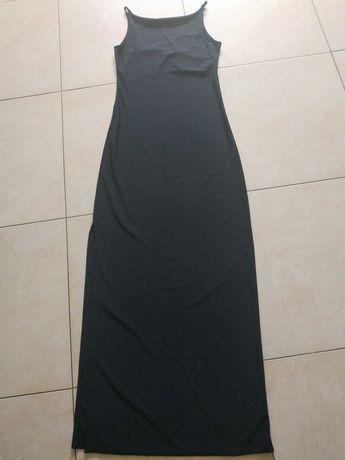 Sukienka maxi 38 M wieczorowa czarna