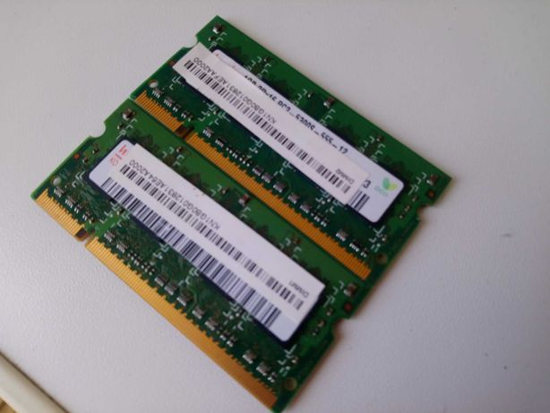 2gb (1+1) ddr2 laptop/portátil ram