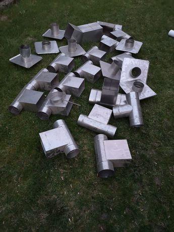 Nierdzewne elementy części komina