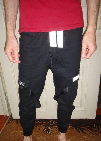 Штаны карго, новые, размер S (на меня маленькие, одевал один раз)