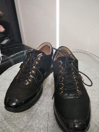 Sneakersy skórzane JORDAN kazar