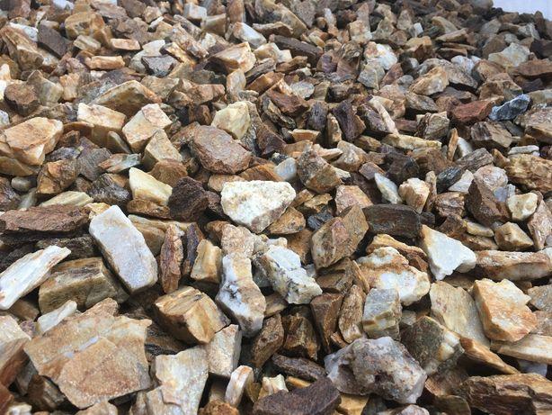 Kora kamienna miodowa i lodowa NOWOŚĆ! kamień ogrodowy, grys ozdobny