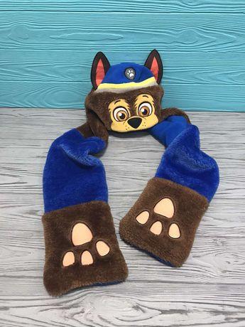 Флисовая шапка шарф Гонщик из мультфильма Щенячий патруль Nickelodeon