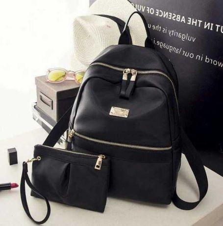 Женский рюкзак , городской практичный рюкзак черного цвета, al-2542-10