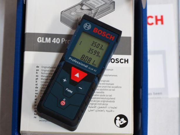 Dalmierz laserowy BOSCH GLM 40 miarka miara