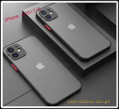 Capa Efeito Smoked P/ iPhone X / XS / 12 / 12 Pró / 12 Pro Max