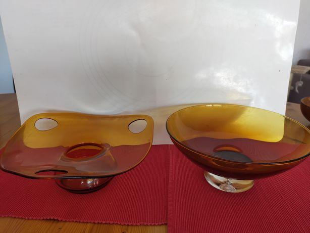 Patery kolorowe szkło huta laura prl
