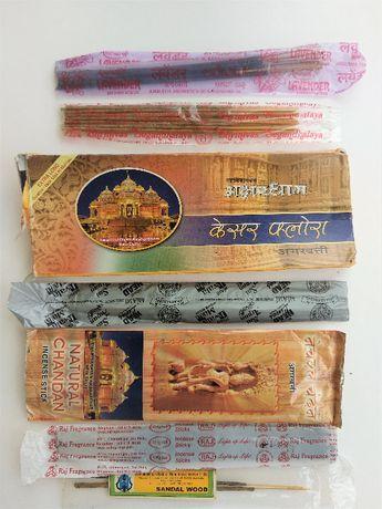 Аромапалочки, благовония натуральные индийские. Распродажа