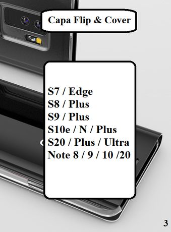 Capa Flip & Cover S7 - S8 - S9 - S10 - Note 8 - Note 9 - Note 10