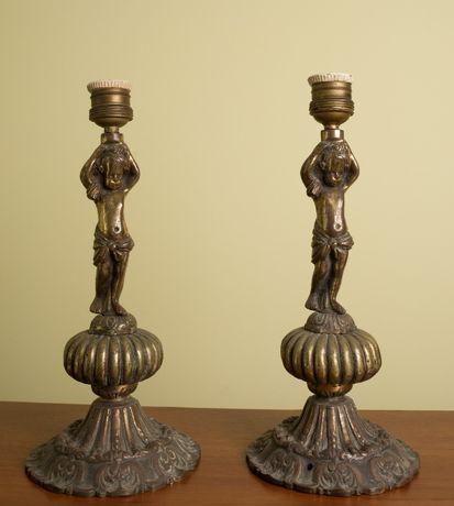стойки под настольные лампы старинные бронзовые Испания