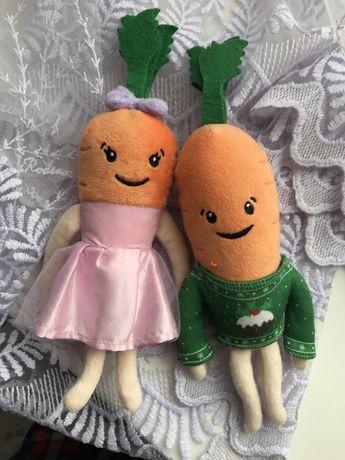 Морковки Кевин и Кэти из Алди, яблоко Шопкинс лот