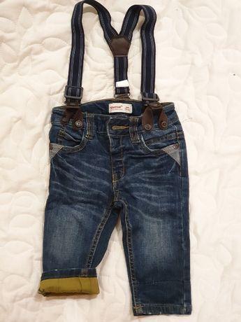 Детские джинсы на подтяжках