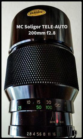 Obiektyw 200mm f2.8 Fd. Meopta optinar i stigmar F1.25.