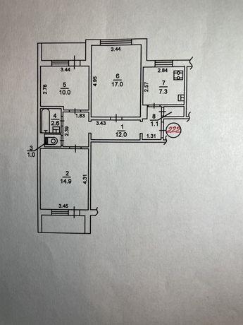 3-комнатная квартира Троещина