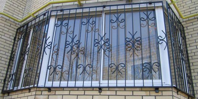 Решетки на окна, балкон, двери - Кованые, Сварные [ от 350 грн/м2 ]