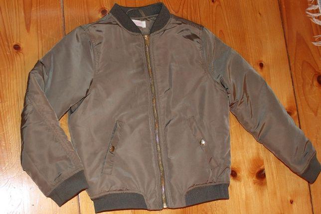 kurtka kurteczka ramoneska jak nowa 134 khaki