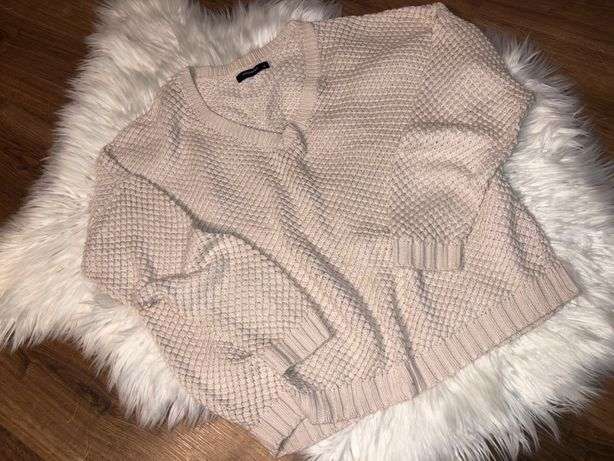 Sweter blado różowy Reserved dekolt w serek