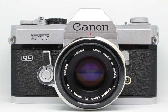 Câmara SLR Canon FT + Canon 50mm 1.8 (fotografia analógica)