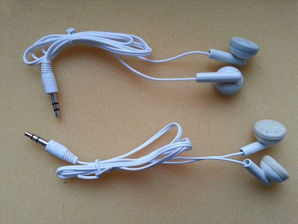 Słuchawki douszne białe Jack 3,5mm NOWE bez opakowania