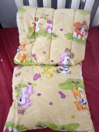 Одеяло и подушка на овчине