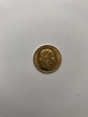Золотая монета 1915 Австрия 1 Дукат  lod ill rex a a 1915 золото