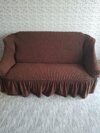 Покрывало-чехол на диван плюс 2 кресла