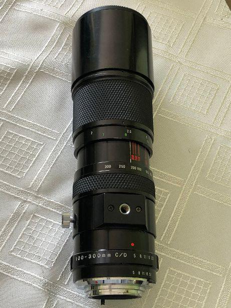 Obiektyw Soligor 5/100-300mm C/D Macro + Filtr B+W. Mocowanie MINOLTA
