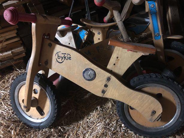 Rowerki biegowe drewniane 3 szt dla dzieci