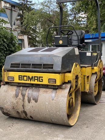 Аренда Услуги Дорожный Грунтовой Каток с Вибро BOMAG