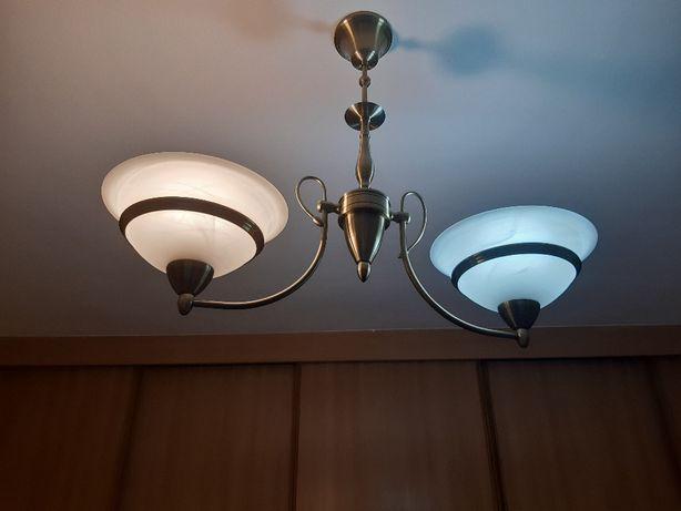 Lampa sufitowa dwuramienna
