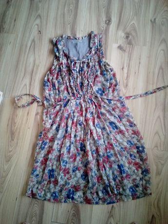 NOWA sukienka 44, sukienka w kwiaty 44, nowa sukienka xl, sukienka xxl