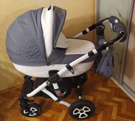 Дитяча коляска універсальна 2в1 Adamex Barletta (біла рама)
