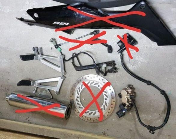 Części Honda cbr 125 r Sety stopka dzwignia zmiany biegów