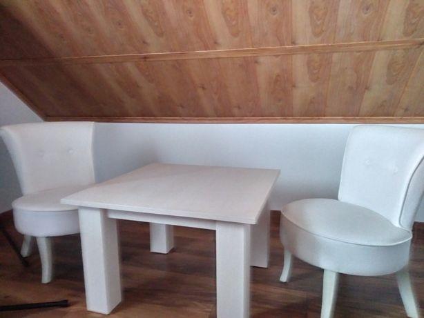 Dwa fotele,stolik