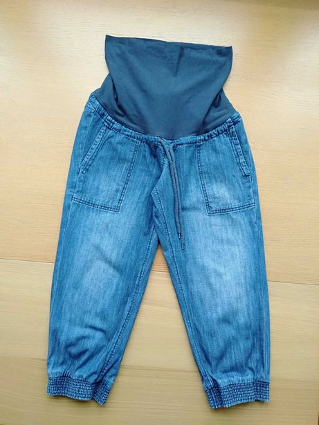 Ciążowe spodnie rybaczki H&M MAMA jeans rozm. 38
