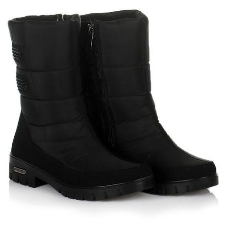 Черные женские сапоги ботинки зима зимняя обувь 37 38 39