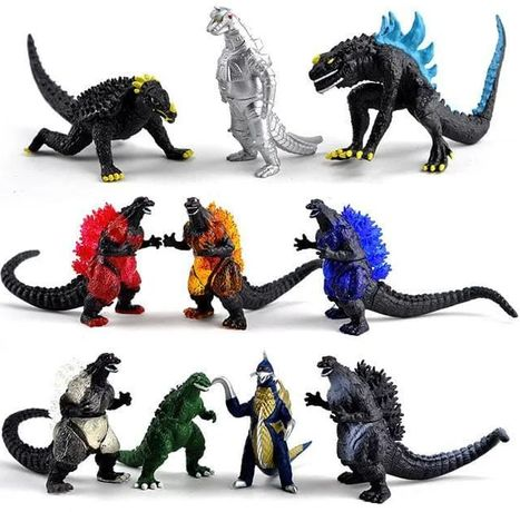 Набор фигурок 10в1 Годзилла Король монстров, Godzilla vs Kong