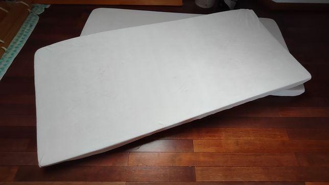 2 materace piankowe 90x200