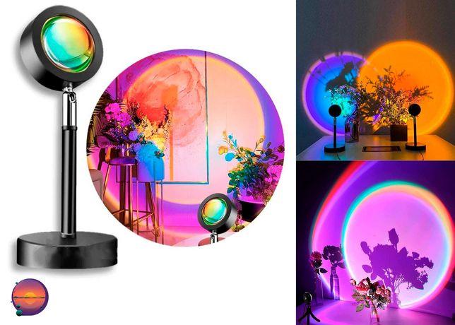 Sunset Lamp проецирует закат светильник USB проектор для фото съемок
