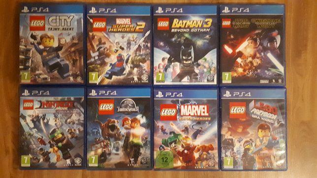 Gry PS4 LEGO:City,Heroes1i2,Batman,Jurassic,Star Wars,Przygoda,Ninjago