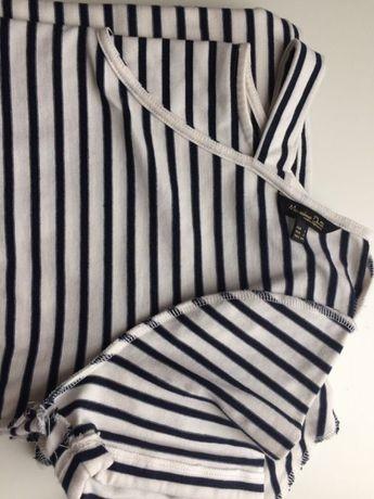 Massimo Dutti L 40 pasiasta sukienka z aplikacją na plecach