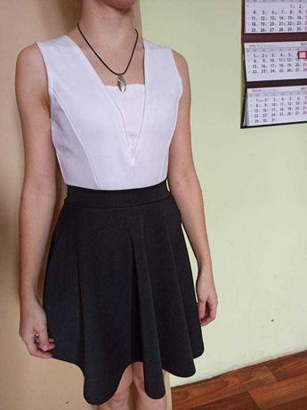 Sukienka czarno biała XS/. 34