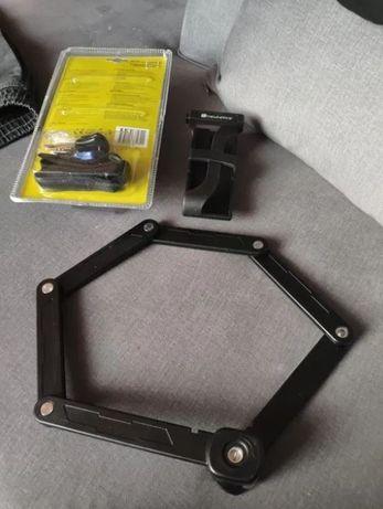 Zapięcie rowerowe, mocne, stalowe do montażu na ramę. Blokada na rower