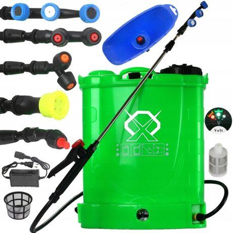Opryskiwacz akumulatorowy 16l ZESTAW DYSZ + przystawka do herbicydów