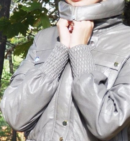 Кожаная курточка бомбер