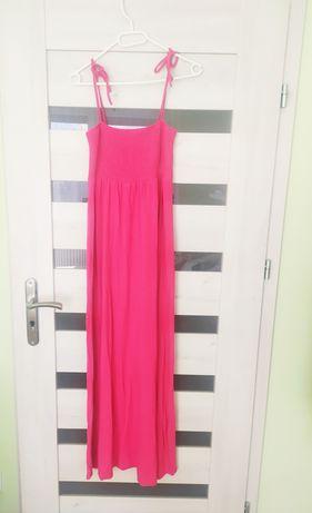 ESPRIT, Długa piękna sukienka letnia, rozmiar S