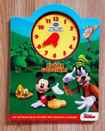"""Disney Myszka Mickey Mouse książeczka """"Która godzina"""" nauka zegara"""