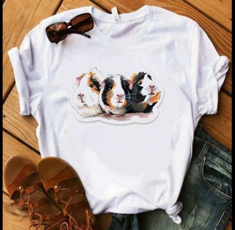 Koszulka t-shirt bluzka świnka morska cavia domowa S M L XL XXL