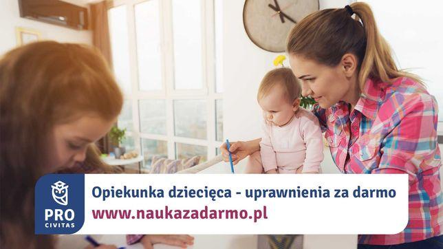 Opiekunka dziecięca - zawód za darmo. Zapisz się do 31 sierpnia
